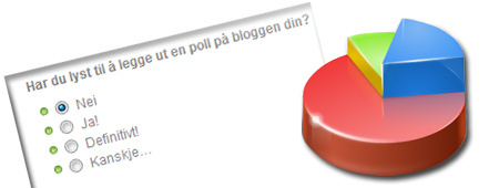 Lag en spørreundersøkelse på bloggen din!
